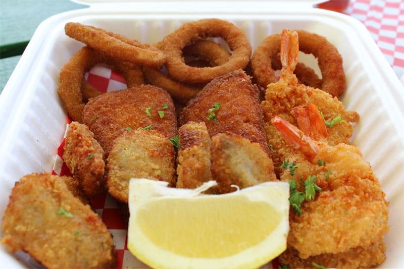 Bourbon Street Seafood Combo Plate, Kapaa food truck