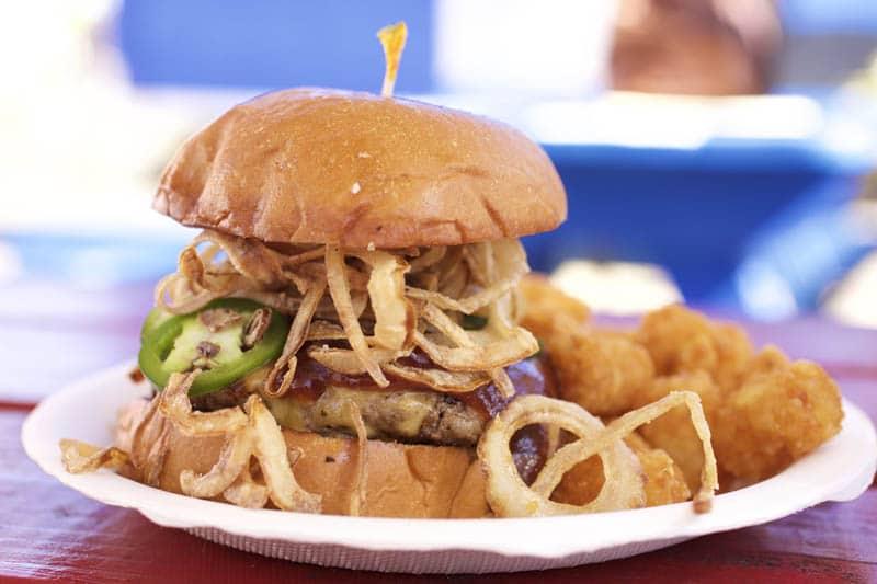 The Woody Burger from NOM Kauai Food Truck, Kapaa