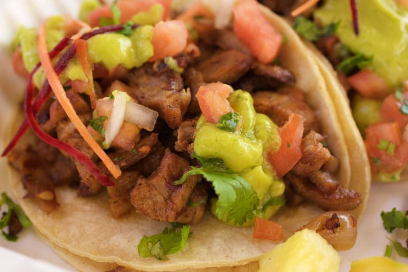 Al Pastor tacos, Mexican Food Truck Kapaa