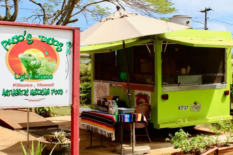 Pacos Tacos Food Truck Kilauea